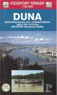 Ráckevei (Soroksári)-Duna vízitúra térkép
