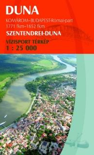 Szentendrei-Duna vízitúra térkép