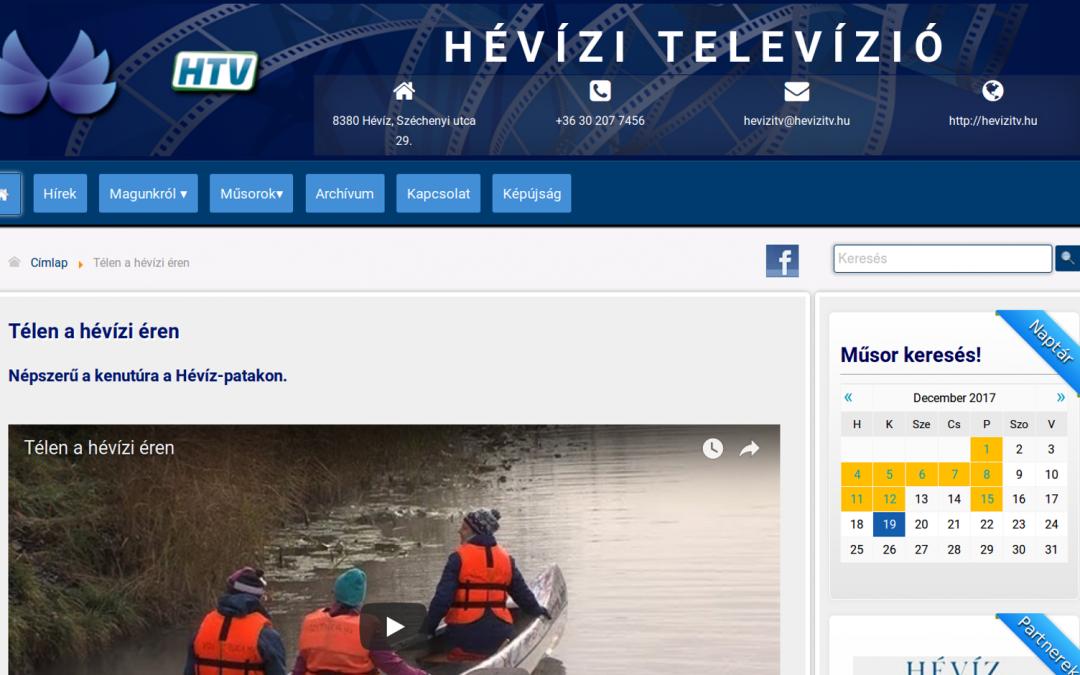 Hévíz vízitúra összeállítás a Hévízi Televízióban